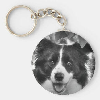 Border Collie Dog Key Ring