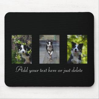 Border Collie dog lovers custom text mousepad