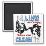 Border Collie Dog Lovers Dishwasher Magnet