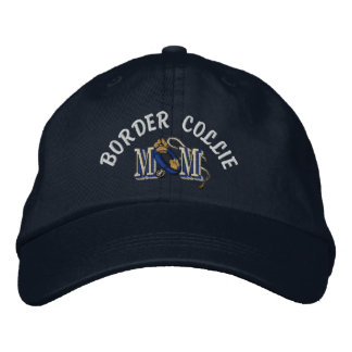 Border Collie Dog Mom Embroidered Hat