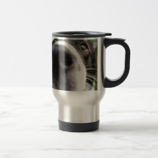 Border Collie Dog Nose Travel Mug