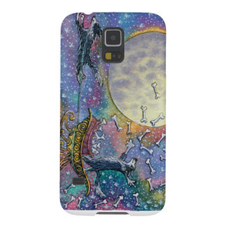 Border Collie dog throwing bones to the world Cases For Galaxy S5