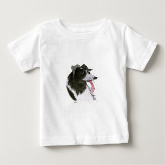 Border Collie dog, tony fernandes Baby T-Shirt