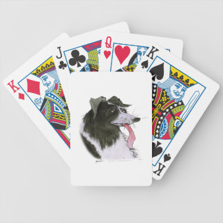 Border Collie dog, tony fernandes Bicycle Playing Cards