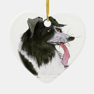 Border Collie dog, tony fernandes Christmas Ornament