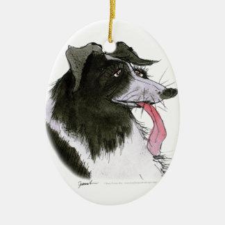Border Collie dog, tony fernandes Christmas Ornament