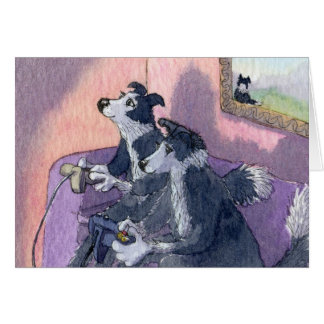 Border Collie Dog  Videogamers, Concentration CARD
