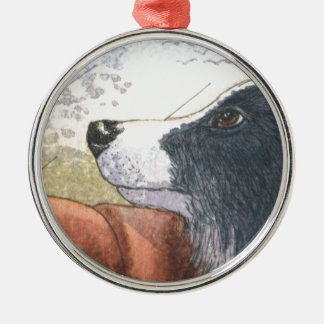 Border Collie dog waiting in car Christmas Ornament