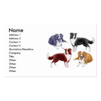 Border Collie Dogs Business Card