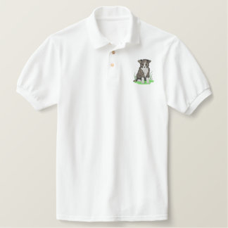 Border Collie Embroidered Shirt