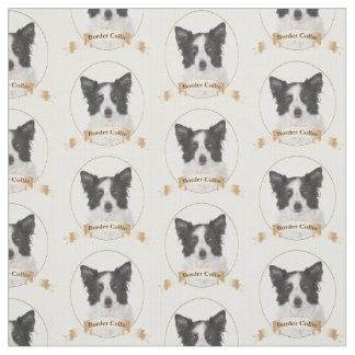 Border Collie Fabric