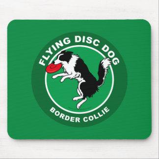 Border Collie Flying Disc Dog Mousepad