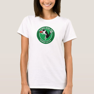 Border Collie Flying Disc Dog Women's T-shirt (W)