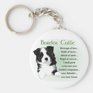 Border Collie Gifts Key Ring
