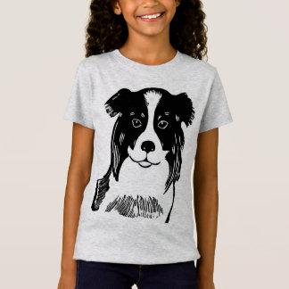 Border Collie Girl's Fine Jersey T-Shirt