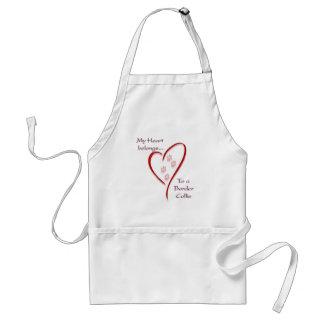 Border Collie Heart Belongs Standard Apron
