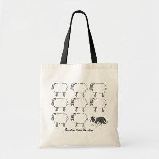 Border Collie Herding Sheep Bag
