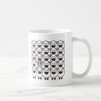 Border Collie in the Sheep Basic White Mug