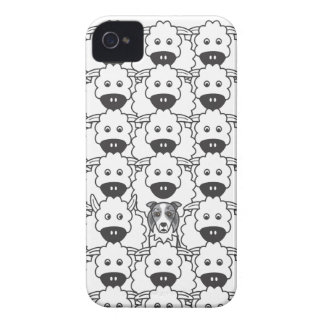 Border Collie in the Sheep iPhone 4 Cover