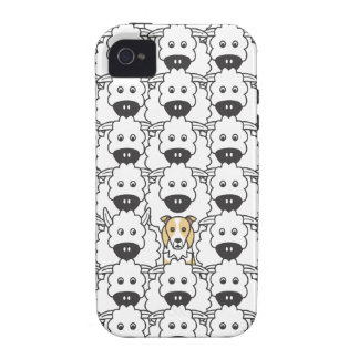 Border Collie in the Sheep iPhone 4 Cases