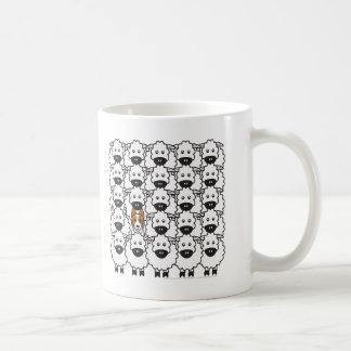 Border Collie in the Sheep Coffee Mugs