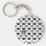 Border Collie in the Sheep Key Chains