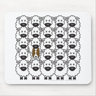 Border Collie in the Sheep Mouse Pad