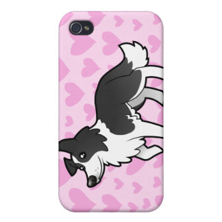 Border Collie Love (add your pattern!) iPhone 4 Cover