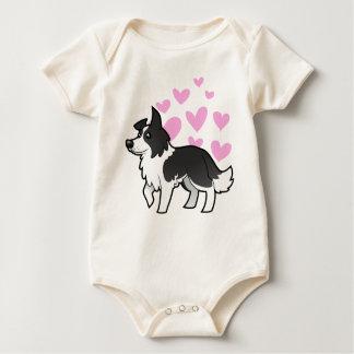 Border Collie Love Baby Bodysuit