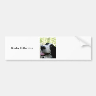 Border Collie Love Bumper Sticker