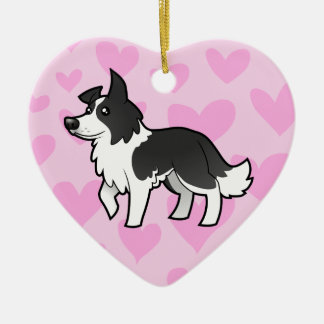 Border Collie Love Christmas Ornament