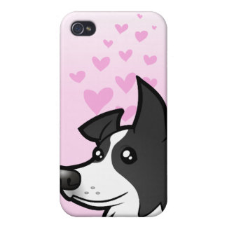 Border Collie Love Cover For iPhone 4
