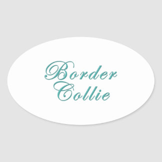 Border Collie Lover Oval Sticker