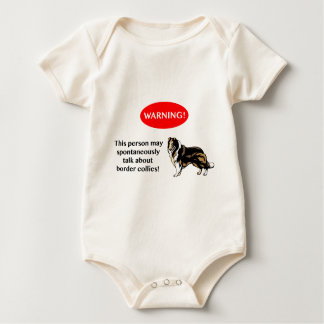 Border Collie lover warning Baby Bodysuit
