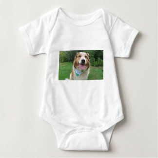border collie mix baby bodysuit