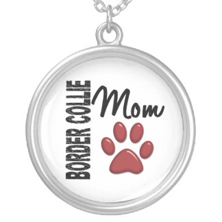 Border Collie Mom 2 Silver Plated Necklace