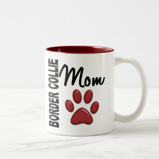 Border Collie Mom 2 Two-Tone Coffee Mug