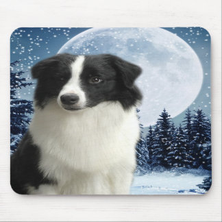 Border Collie & Moon Mousepad