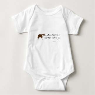 border collie - more baby bodysuit