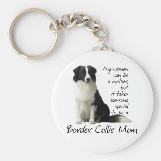Border Collie Mum Keychain