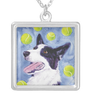 Border Collie Necklace - Magpie s Gold