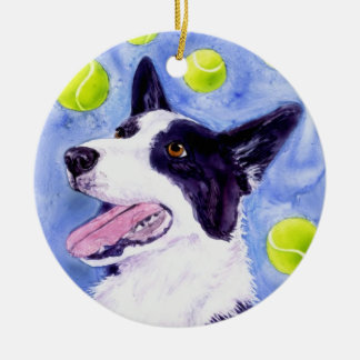 "Border Collie Ornament - ""Magpie's Gold"""