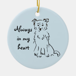 Border Collie - Personalize a Memory Keepsake Christmas Ornament