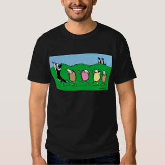 Border Collie Pied Piper Tees