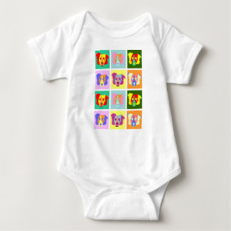 Border Collie Pop Art Baby Bodysuit
