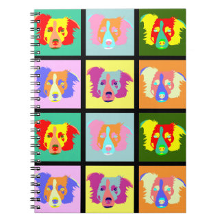Border Collie Pop Art Notebook