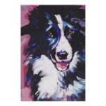 Border Collie Pop Art Poster Print