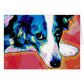 Border Collie Pop Art Stationery Note Card