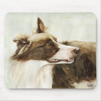"""Border Collie Profile"" Dog Art Mouse Pad"