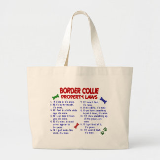 BORDER COLLIE Property Laws 2 Large Tote Bag